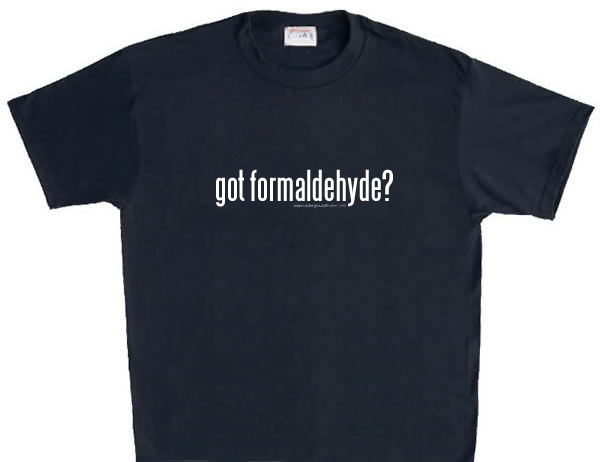 formaldehyde resin  Fabrics are treated with urea-formaldehyde resinsFormaldehyde