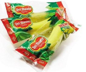 Packaged bananas from Del Monte.